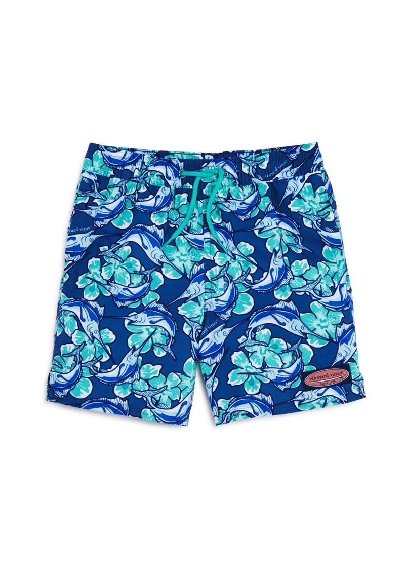 384299465c Boys' Marlin Flower Chappy Swim Trunks - Little Kid, Big Kid. Vineyard Vines