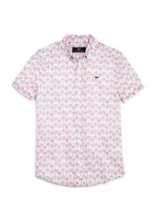 Vineyard Vines Boys' Palm Tree Shirt - Little Kid, Big Kid