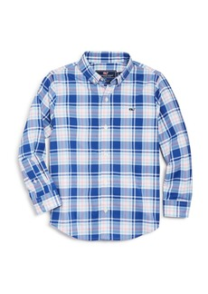 Vineyard Vines Boys' Perfect Plaid Sport Shirt - Little Kid, Big Kid