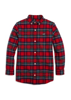 Vineyard Vines Boys' Plaid Flannel Button-Down Shirt - Little Kid, Big Kid
