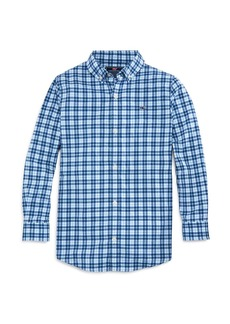 Vineyard Vines Boys' Plaid Performance Button-Down Shirt - Little Kid, Big Kid