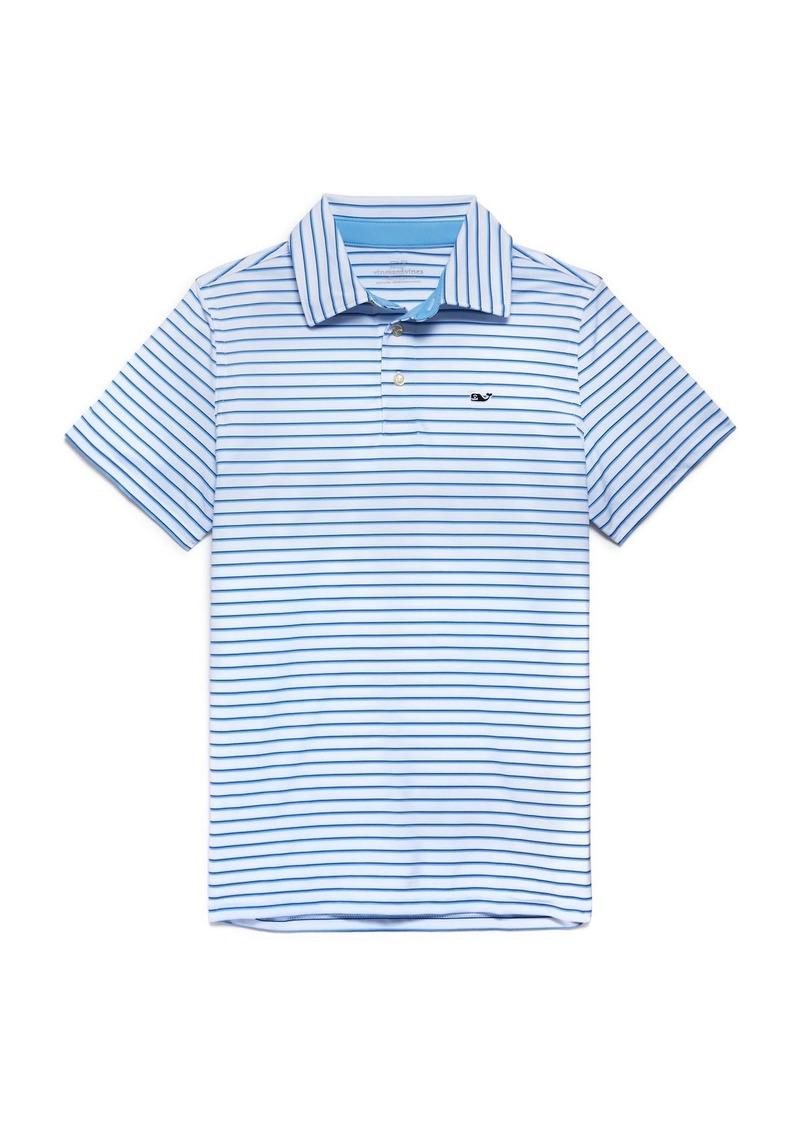 Vineyard Vines Boys' Sankaty Bogey Striped Polo Shirt - Little Kid, Big Kid