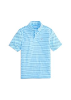 Vineyard Vines Boys' Striped Performance Polo - Little Kid, Big Kid