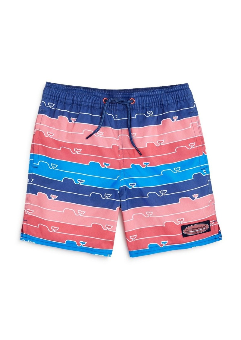 6e87e57367 Boys' Striped Whale-Print Swim Trunks - Little Kid, Big Kid. Vineyard Vines