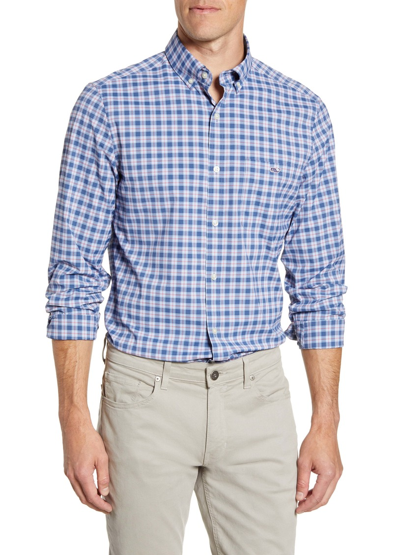 vineyard vines Brookings Tucker Classic Fit Plaid Button-Down Performance Shirt
