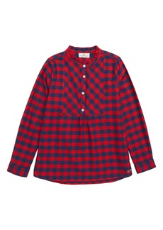 vineyard vines Buffalo Check Flannel Popover Shirt (Toddler Girls, Little Girls & Big Girls)