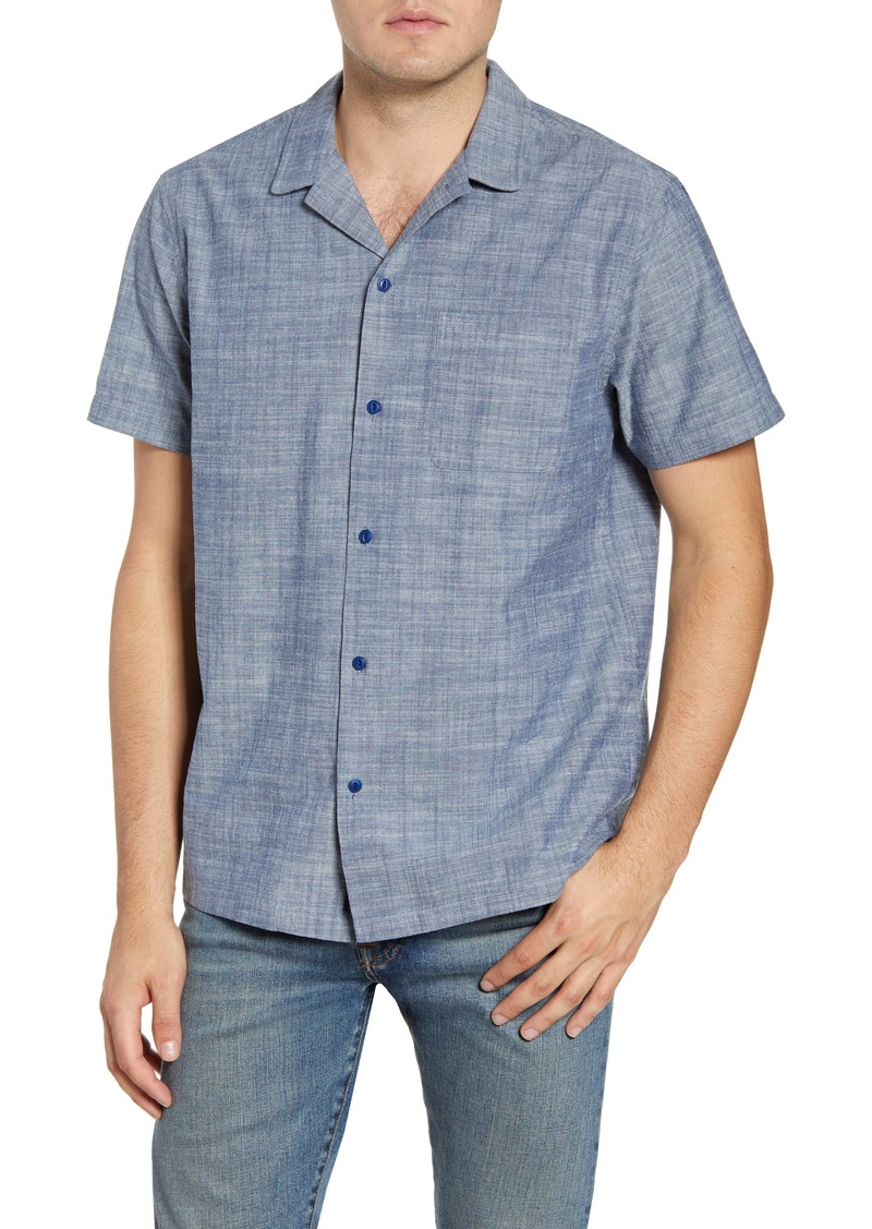 vineyard vines Cabana Regular Fit Short Sleeve Chambray Button-Up Camp Shirt