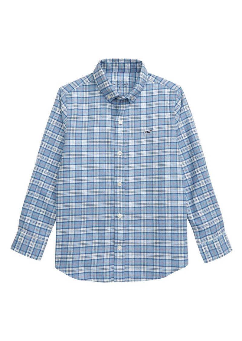 vineyard vines Cades Plaid Button-Down Flannel Shirt (Toddler Boys & Little Boys)