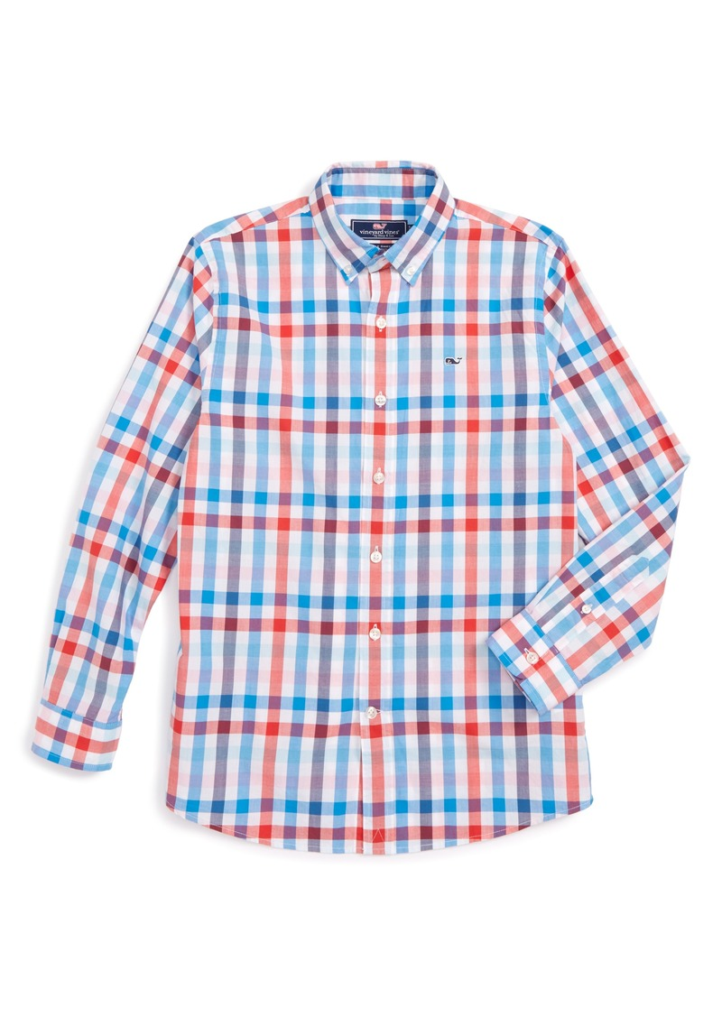 2a2afff7 Vineyard Vines Chalwell Gingham Whale Shirt (Toddler Boys, Little Boys &  Big Boys)