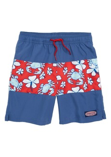 vineyard vines Chappy Pieced Crab Floral Swim Trunks (Toddler Boys, Little Boys & Big Boys)