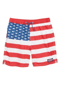 vineyard vines Chappy USA Flag Swim Trunks (Little Boys & Big Boys)