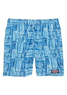 vineyard vines Chappy Woodblock Sea Life Swim Trunks (Big Boys)