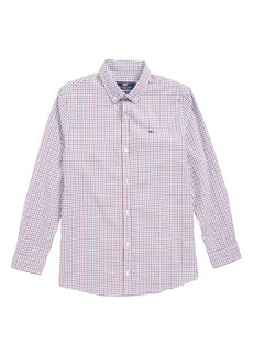 vineyard vines Clark Cove Check Whale Shirt (Big Boys)