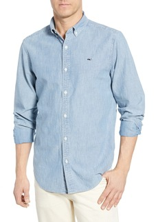 vineyard vines Murray Slim Fit Chambray Sport Shirt