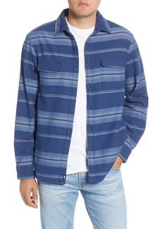 vineyard vines Classic Fit Stripe Button-Up Flannel Shirt Jacket