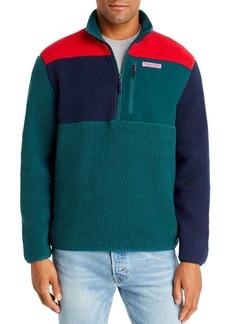 Vineyard Vines Color-Block Sherpa Half-Zip Fleece