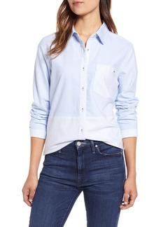 vineyard vines Colorblock Relaxed Button-Up Stretch Cotton Shirt