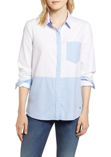 vineyard vines Colorblock Relaxed Oxford Blouse