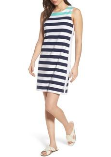 vineyard vines Contrast Stripe Sleeveless Cotton Knit Dress