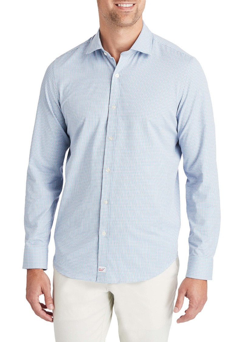vineyard vines Cooper Slim Fit Wasatch Check Performance Shirt