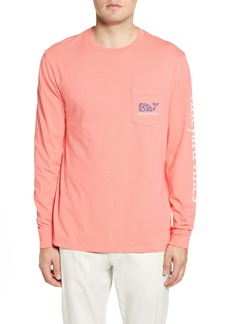 vineyard vines Crab Stamp Long Sleeve Pocket T-Shirt