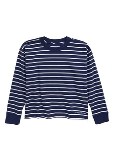 vineyard vines Crop Stripe T-Shirt (Little Girl & Big Girl)