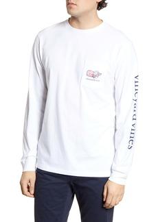 vineyard vines Cupid Whale Long Sleeve Pocket T-Shirt