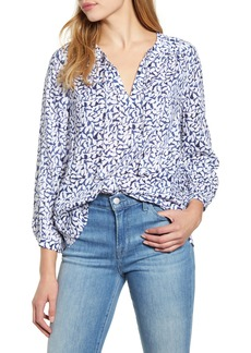 vineyard vines Deep Sea Floral Top