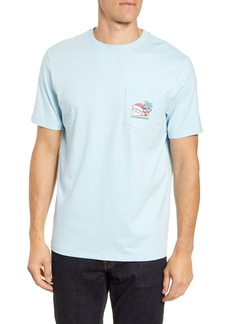 vineyard vines Destination Santa Whale Pocket T-Shirt