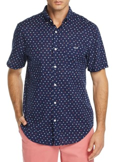 Vineyard Vines Dock Street Printed Short-Sleeve Slim Fit Button-Down Shirt
