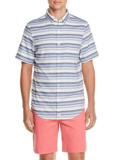 Vineyard Vines Down Harbor Short-Sleeve Striped Slim Fit Button-Down Shirt