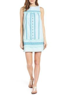 Vineyard Vines Embroidered Cotton Shift Dress