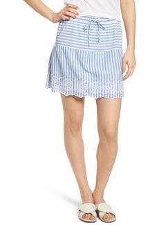 vineyard vines Eyelet Stripe Cotton Skirt