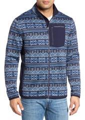 Vineyard Vines Fair Isle Better Sweater Full Zip Fleece Jacket