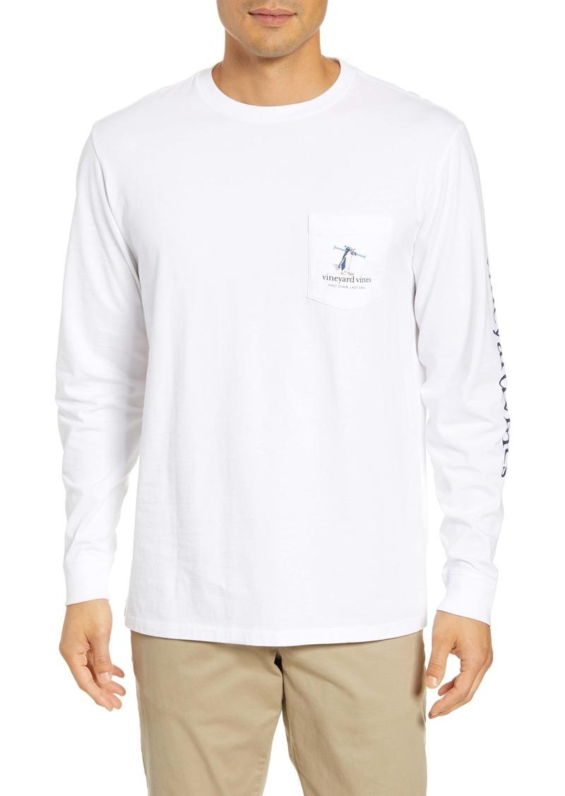 vineyard vines First Chair Last Call Long Sleeve Pocket T-Shirt
