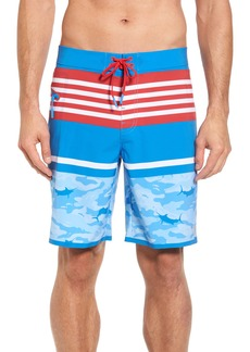 vineyard vines Fish Camo Stripe Board Shorts