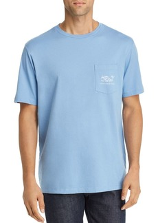 Vineyard Vines Fish-Logo Graphic Pocket Tee