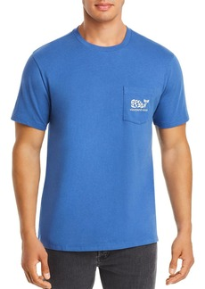 Vineyard Vines Fish Stamp-Logo Graphic Pocket Tee