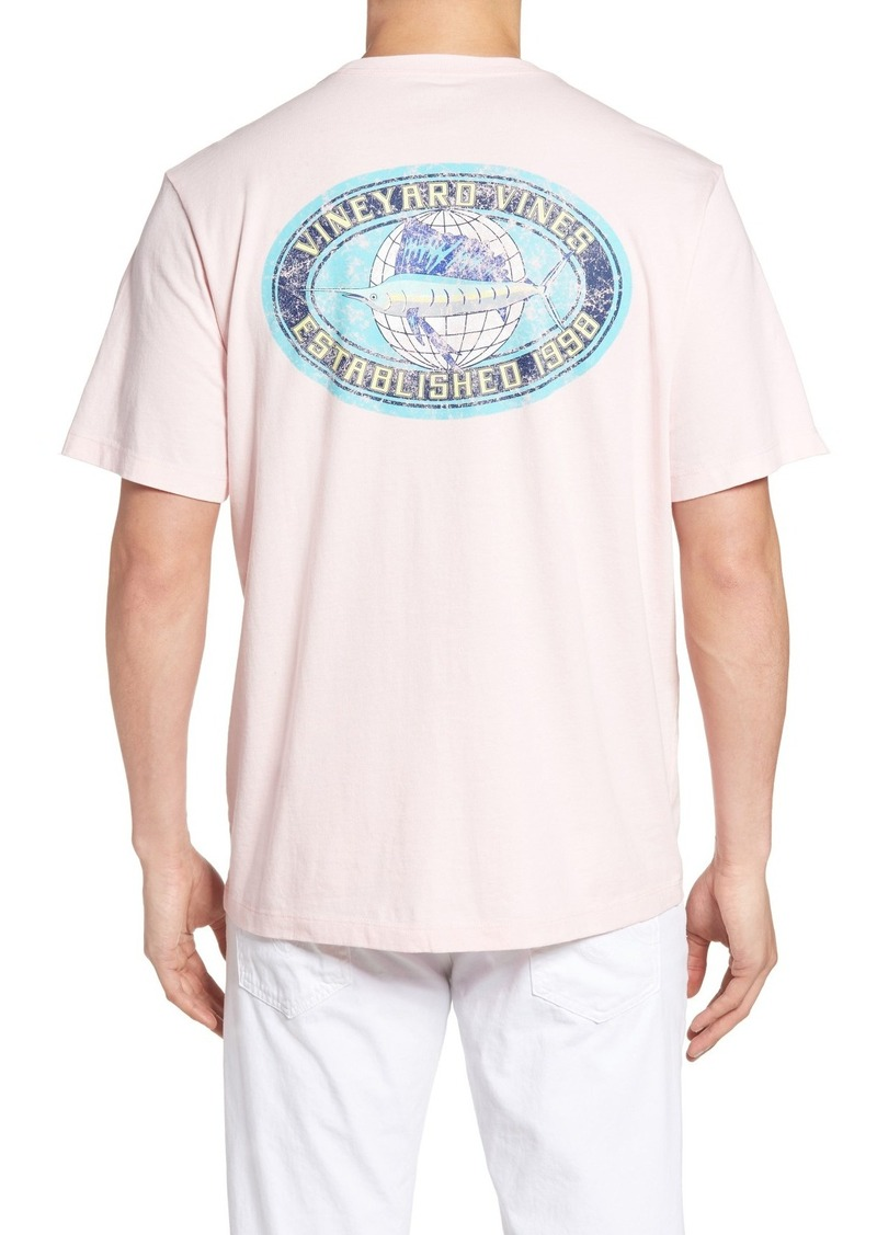 Vineyard Vines Fishing The World Graphic T-Shirt