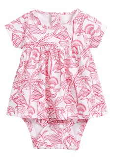 vineyard vines Flamingo Pima Cotton Skirted Bodysuit (Baby Girls)
