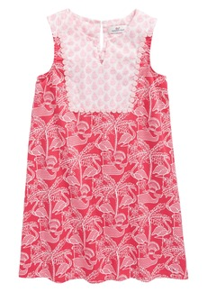 vineyard vines Flamingo Print Shift Dress (Toddler Girls, Little Girls & Big Girls)