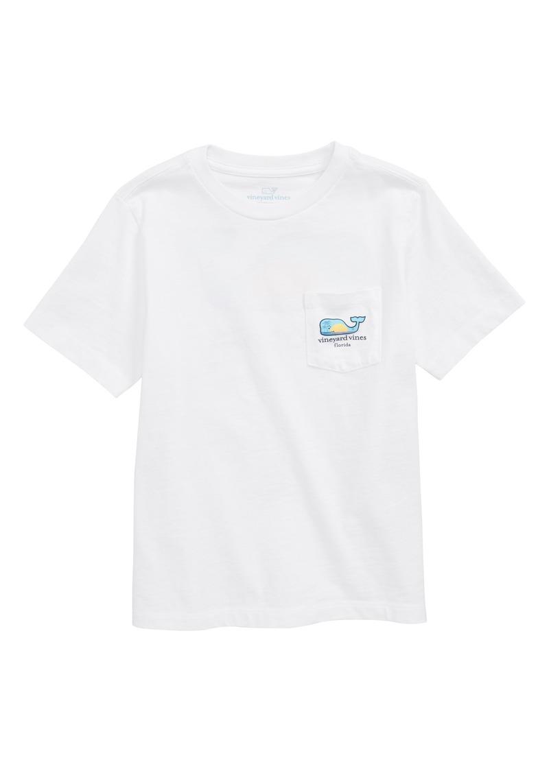 vineyard vines Florida Whale Pocket T-Shirt (Big Boys)