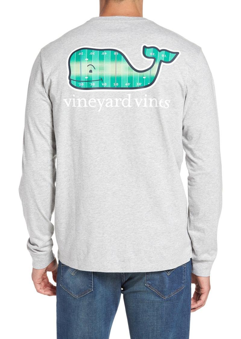 Vineyard vines vineyard vines football field whale logo t for Whale emblem on shirt