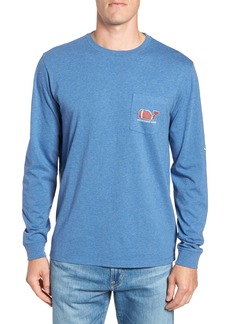 vineyard vines Football Whale Long Sleeve Pocket T-Shirt
