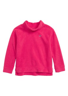 vineyard vines Fuzzy Mock Neck Top (Toddler Girls, Little Girls & Big Girls)