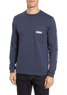 vineyard vines Garland Logo Box Long Sleeve Pocket T-Shirt