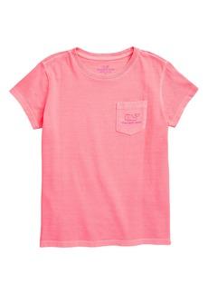 vineyard vines Garment Dyed Logo Graphic Tee (Toddler Girls)