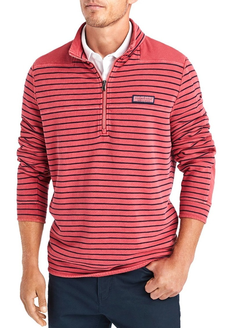 Vineyard Vines Garment-Dyed Pique Shoulder Sweatshirt