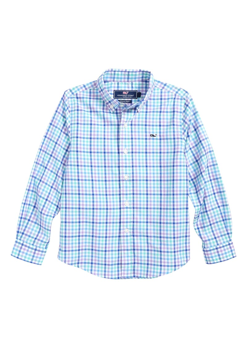 22831512 vineyard vines Gaspar Gingham Whale Shirt (Toddler Boys & Little Boys)