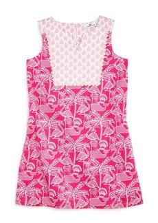 Vineyard Vines Girls' Flamingo-Print Shift Dress - Little Kid